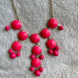 JCrew Pink Bubble Necklace